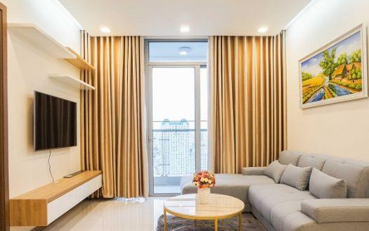 Vinhomes Central Park - Elegant apartment, Nice Design, Warm Colors, 25th Floor, 2Brs.