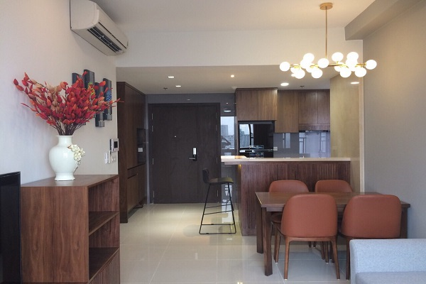 RiverGate Residence- Wooden Furniture, Modern, 74sqm, 2Beds, 1250USD.