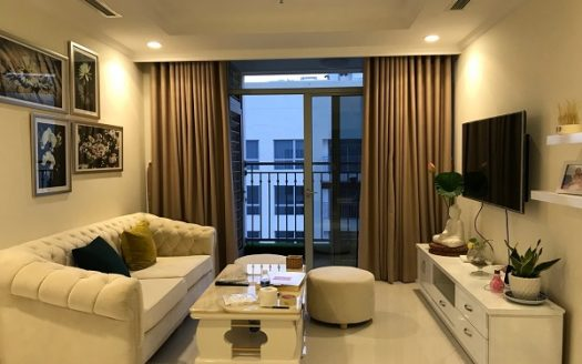 Vinhomes Central Park-The apartment featured a luxurious white and elegant, 2Brs.