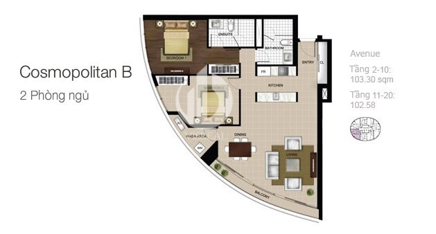 Layout of City Garden apartment