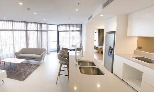 City Garden Apartments - Living in an elegant, modern apartment.