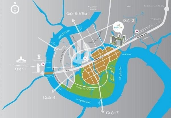 New City Thu Thiem - Location