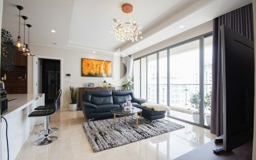 Diamond Island Apartment – designed in Mid-Century Modern style, fresh style, bright and friendly.