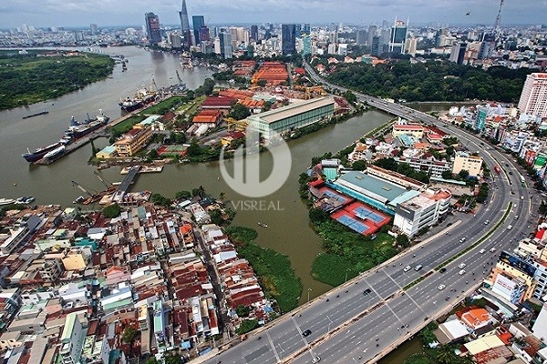 View of apartment for rent in Vinhomes Golden River