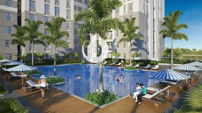 Swimming pool of apartment in Materi Thao Dien