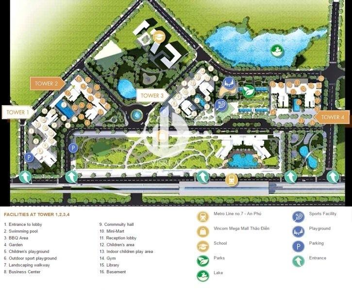 Utilities of Masteri Thao Dien apartment
