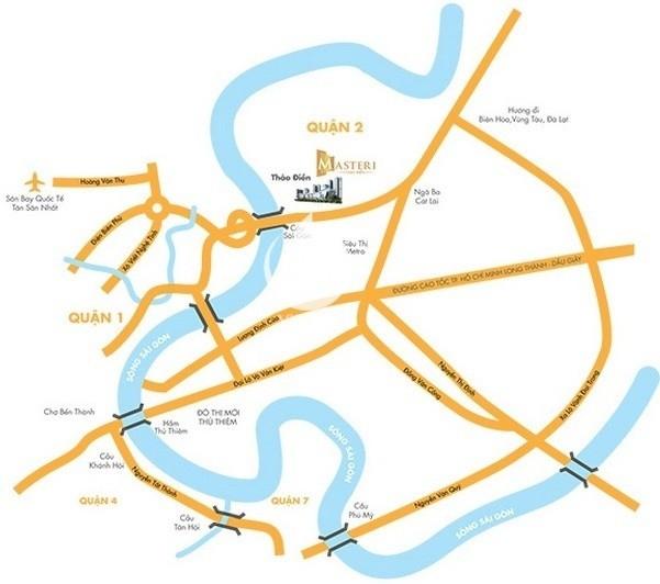 Masteri Thao Dien apartment for rent - Location