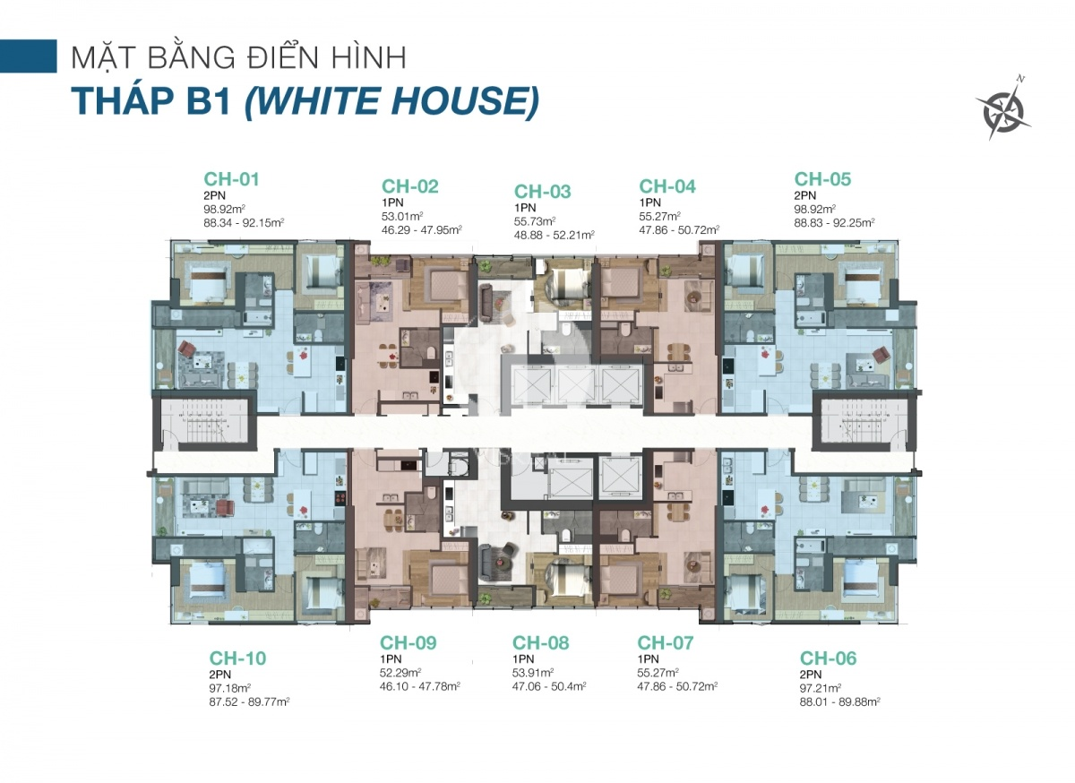 The layout of the White House tower