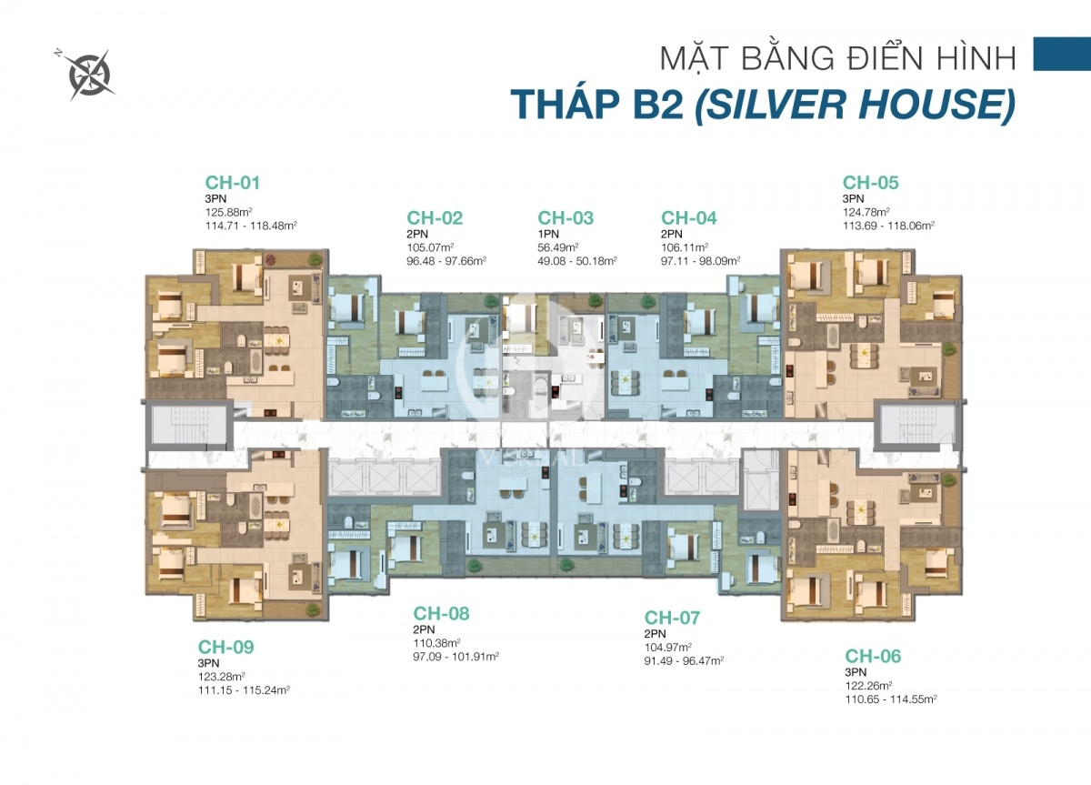 The layout of the Silver House tower