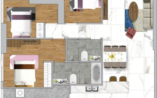 layout no1 of Silver House Tower