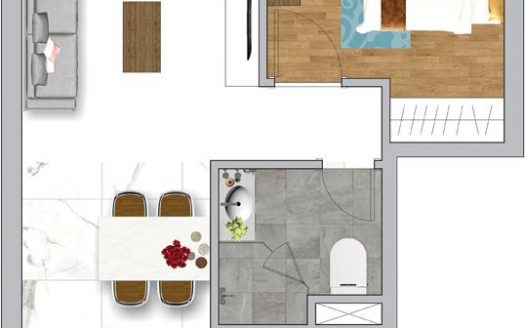 layout of apartment no2 White House Tower for rent