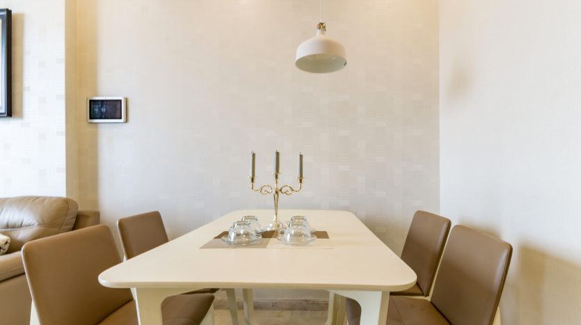A delicate dining area